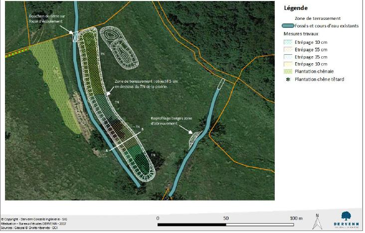Mise en oeuvre des mesures compensatoires et sécurisation foncière dans le cadre du projet RN162 - déviation de Moulay-Mayenne (53)