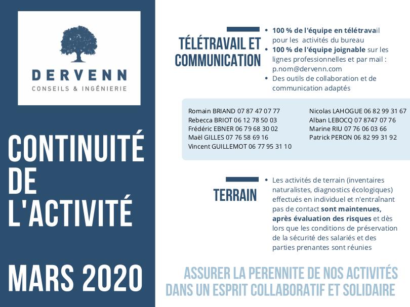 Le plan de continuité d'activité de Dervenn Conseil et Ingénierie
